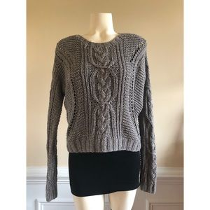 Grey Vince Oversize lightweight hand knit sweater
